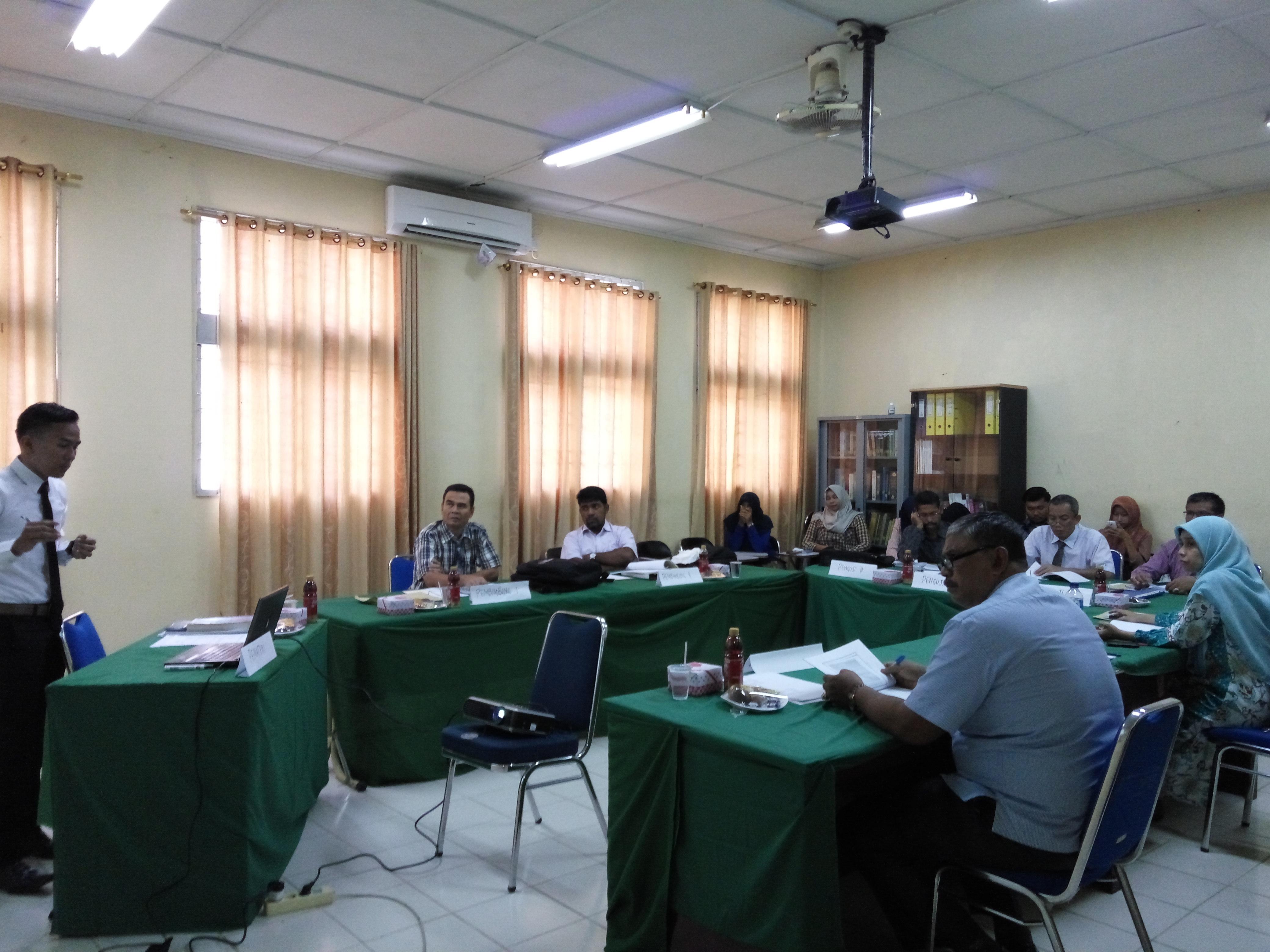 Sidang TGA Mhs Migas dengan Penguji dari PT. PAG